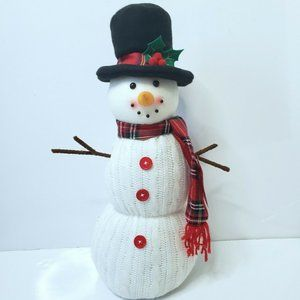 Plush Fabric Snowman Holiday Decoration 18""